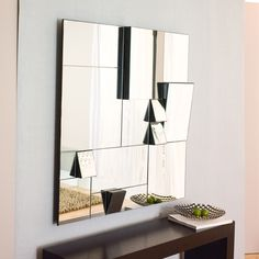 The numerous adjoining facets that make up this stylish mirror not only add to its striking splendour, they provide several angled mirrors in one, allowing the user to view their reflection from many perspectives. Contemporary Wall Mirrors, Modern Mirrors, Beautiful Mirrors, Home Decor Accessories, Modern Furniture, Cool Designs, New Homes, Interior Design, Living Room