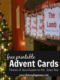 Free Printable Advent Cards for a Jesse Tree!