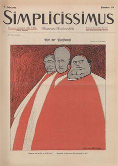 simplicissimus magazine Satire, Olaf, Magazine Art, Magazine Covers, Print Layout, Humor Grafico, Famous Art, Political Cartoons, Life Drawing