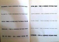 Dit zijn typische sci-fi fonts, waarvan sommigen een directe replica van bestaande film fonts zijn. Alle fonts zijn in drukletters en voelen heel erg hoekig aan.