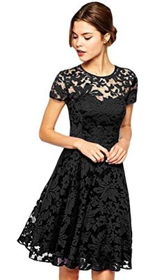 Little black lace dress.