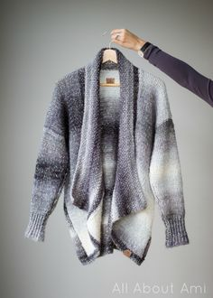 Get our kit and make this gorgeous cardigan by All About Ami​ with Shawl in a Ball!