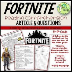 Fortnite Reading Comprehension Digital Escape Room Ⓡ - English, Oh My! 7th Grade Ela, 6th Grade Reading, Middle School Reading, Middle School English, Sixth Grade, Fourth Grade, 7th Grade English, Seventh Grade, Grade 3