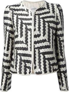 #Armani Collezioni Woven Jacket