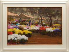 """ROMANELLI, ARMANDO - """"Mercado de Flores"""", O.S.T, assinado no canto inferior direito e datado"""