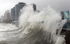 High waves caused by Typhoon Sanba crash on Haeundae beach in Busan, south of Seoul, South Korea, Monday, Sept. Busan, The Fifth Wave, Costa, Huge Waves, Tropical, Pacific Rim, Heroes Of Olympus, Natural Disasters, Percy Jackson