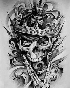 Leading Tattoo Magazine & Database, Featuring best tattoo Designs & Ideas from around the world. At TattooViral we connects the worlds best tattoo artists and fans to find the Best Tattoo Designs, Quotes, Inspirations and Ideas for women, men and couples. Clock Tattoo Design, Tattoo Design Drawings, Skull Tattoo Design, Tattoo Sketches, Tattoo Designs, Skull Rose Tattoos, Body Art Tattoos, Sleeve Tattoos, Tatoo Crane