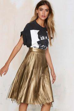 Frisky Gypsy Fringe A-line Skirt - Skirts