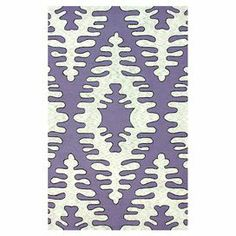 Showcasing a fishbone-inspired motif, this hand-hooked cotton and wool rug brings a pop of pattern to your dining room or master suite.   Product: RugConstruction Material: 50% Wool and 50% cottonColor: PurpleFeatures:  Hand-hookedHandmadeVelvet-like texture Note: Please be aware that actual colors may vary from those shown on your screen. Accent rugs may also not show the entire pattern that the corresponding area rugs have.Cleaning and Care: These rugs can be spot treated with a mild…