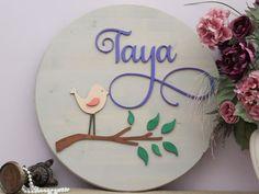 Bird Nursery Decor Girl Nursery Decorative Letters Baby Name