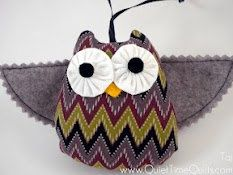 Felt Owl Ornament  Tai by quiettimequiltsdc on Etsy, $20.00