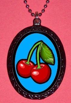 Tasty Red Cherries Lolita Cherry Pendant necklace Rockabilly New Sweetheartsinner