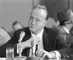 "Frank ""Lefty"" Rosenthal testifies before the Senate Investigations Subcommittee in Washington on Sept. 8, 1961, during a probe of organized gambling. Rosenthal was the former Las Vegas casino boss who inspired the character Sam ""Ace"" Rothstein in the movie ""Casino"