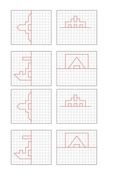 Visual Perceptual Activities, Brain Activities, Therapy Activities, Graph Paper Drawings, Graph Paper Art, Homeschool Worksheets, Worksheets For Kids, Free Printable Puzzles, Maze Worksheet