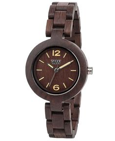 WeWood watch MIMOSA CHOCOLATE