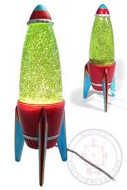 rocket ship lava lamp