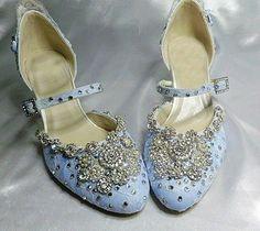 Blue Crystal Bridal Shoes | ... Baby Blue wedding shoes with crystal trim - High Heels - Wedding