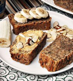 5 Ingredients Spelt & Chia Seeds Banana Bread  [Vegan]