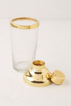 Gilded cocktail shaker, $30