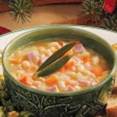 The perfect use for leftover holiday ham... White Bean 'n' Ham Soup