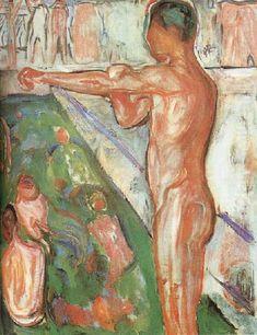 Edvard Munch, Bather, 1907, oil on canvas.