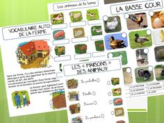 CP - VOCABULAIRE AUTOUR DE LA FERME French Teaching Resources, Teaching French, Vocabulary Instruction, Core French, French Immersion, How To Speak French, Book Activities, Preschool, Preschools