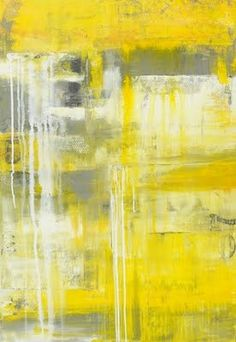 Love yellow and gray art