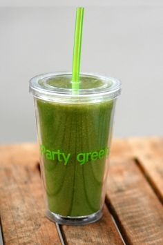 Green Monster Smoothies - you really can't go wrong with any green monster recipe, they're all good. I use 2 cups baby spinach, 1/2 cup orange juice, 1 pear or 1 cup mango, 1 frozen banana, 1 cup frozen pineapple and 1 tbsp honey. Yummy!