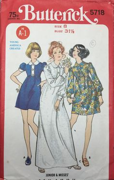 Butterick 5718 Vintage Sewing Pattern  Misses by cositasusa