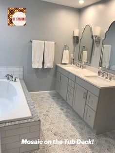Look at the beautiful marble mosaic on the floor, too! Call for Pricing 865.329.3290 Item Number: V138-BI-GI-OV-Bianco and Thassos Hexagon Mosaic