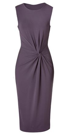 DIY Michael Kors - How to slash and spread sheath dress pattern to get the twist 'n' gather effect on the front.