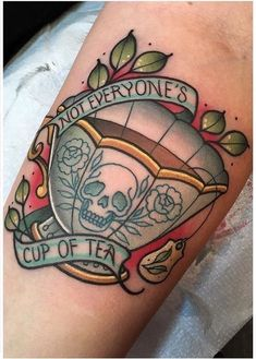 Not everyone's cup of tea tattoo skull teacup SOURCE: Jawtattoos on instagra. - Not everyone's cup of tea tattoo skull teacup SOURCE: Jawtattoos on instagra… … – Not ever - Tattoos Mandala, Tattoos Geometric, Skull Tattoos, Body Art Tattoos, Tattoo Drawings, Tatoos, Octopus Tattoos, Forearm Tattoos, Tattoo Art