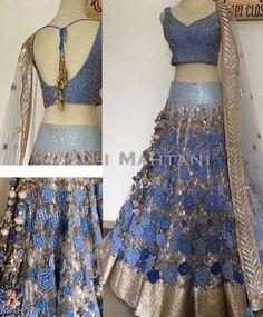 Designer sarees ,indian sari ,bollywood saris and lehenga choli sets. punjabi suits patiala salwars sets bridal lehenga and sarees. Lengha Choli, Indian Lehenga, Anarkali, Sarees, Blue Lehenga, Lehenga Gown, Sharara Suit, Net Lehenga, Pakistani Wedding Dresses