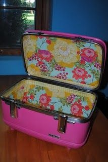 ...more vintage luggage {this makeover is killer}