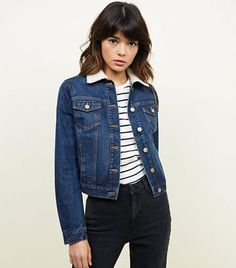 It has been nearly 150 years since Levi Strauss and Company have started making denim jackets, shirt. Borg Jacket, Coats For Women, Jackets For Women, Clothes For Women, Blazer Fashion, Denim Fashion, New Look Uk, Autumn Winter Fashion, Zapatos