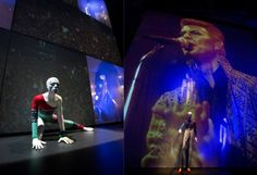 Inside the 'David Bowie is' exhibition at the V & A.  David Bowie rocks my world!