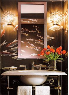 what a great powder room :)