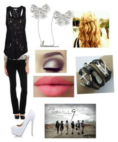"""Number nine t-ara inspired outfit. Love song and band! Esp eunjung!"" by blondethinkpink ❤ liked on Polyvore featuring Hudson, IRO, Adriana Orsini and LORAC"