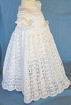 White Christening / Blessing Gown -  Baby Dress - READY TO SHIP -  13094-G
