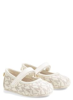 These adorable Michael Kors crib shoes would be so cute on the little one.