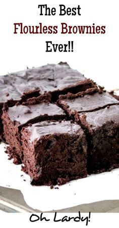 ~Flourless Brownies - www.ohlardy.com. eggs, cocoa powder, maple syrup, coconut oil, vanilla extract, salt