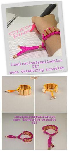 diy-matthew willaimson-neon-drawstring-bracelet-tutorial-inspiration-and-realisation