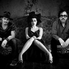 Johnny Depp, Helena Bonham Carter and Tim Burton  such a gorgeous photo!!!!!