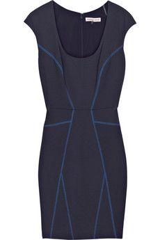 Rebecca Taylor Paneled stretch-jersey knit dress | NET-A-PORTER