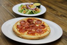 Lunch Pizza with Salad