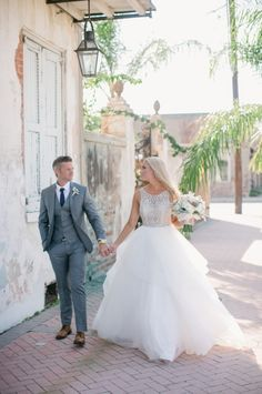 """""""Dorr"""" gown by #hayleypaige Lindsay and Marty's New Orleans Wedding"""