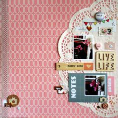 #papercrafting #scrapbook #layout - Happy Zone