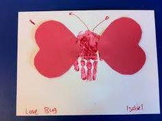 valentines day preschool handprint love bug - Google Search