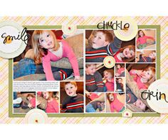 family 2-page layout for Scrapbooks etc.