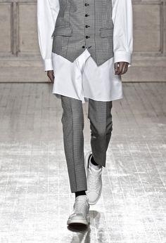 Alxander Mc Queen SS 2015 menswear white & checks